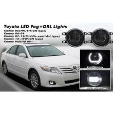 цена на LED Daytime Running Light Fog Lamps For TOYOTA Camry,Corolla,Yaris,Prius,Coaster,RAV4,CREE Lights as Fog Lights & LED DRL light