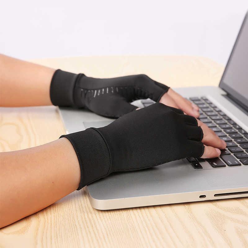 النحاس ضغط التهاب المفاصل قفازات النفق الرسغي ، والكتابة الكمبيوتر ، والدعم اليومي لليدين الصحة معصمه للنساء الرجال