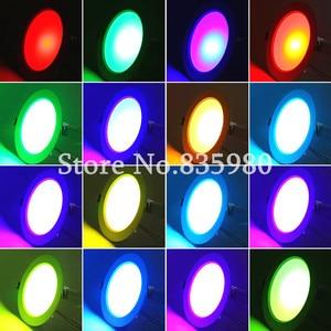 Image 5 - (10 יח\חבילה) RGB 10W 5W LED פנל אור עם שלט רחוק שקוע תקרת מנורה מקורה קישוט צבעוני בית אור