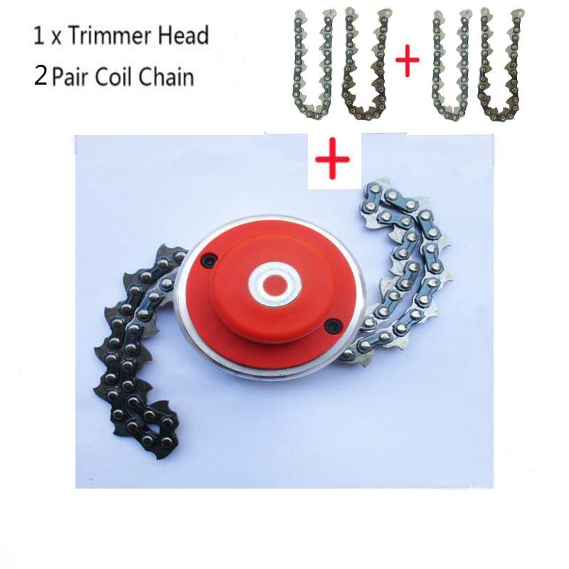 Grass Trimmer Garden Power Tools Selfless Universal Trimmer Head Coil 65mn Chain Brushcutter With Thickening Chain Garden Grass Parts Trimmer For Lawn Mower