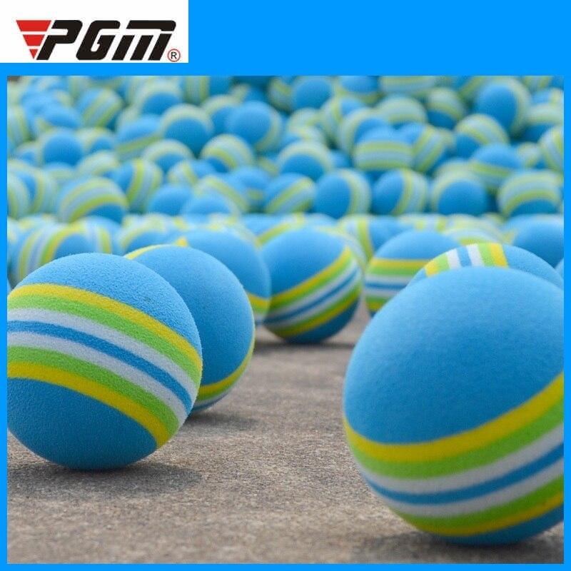 Pgm 1pcs Golf Foam Balls Light-weight Golf Swing Training Aids Indoor Outdoor Practice Sponge Foam Rainbow Balls D0717