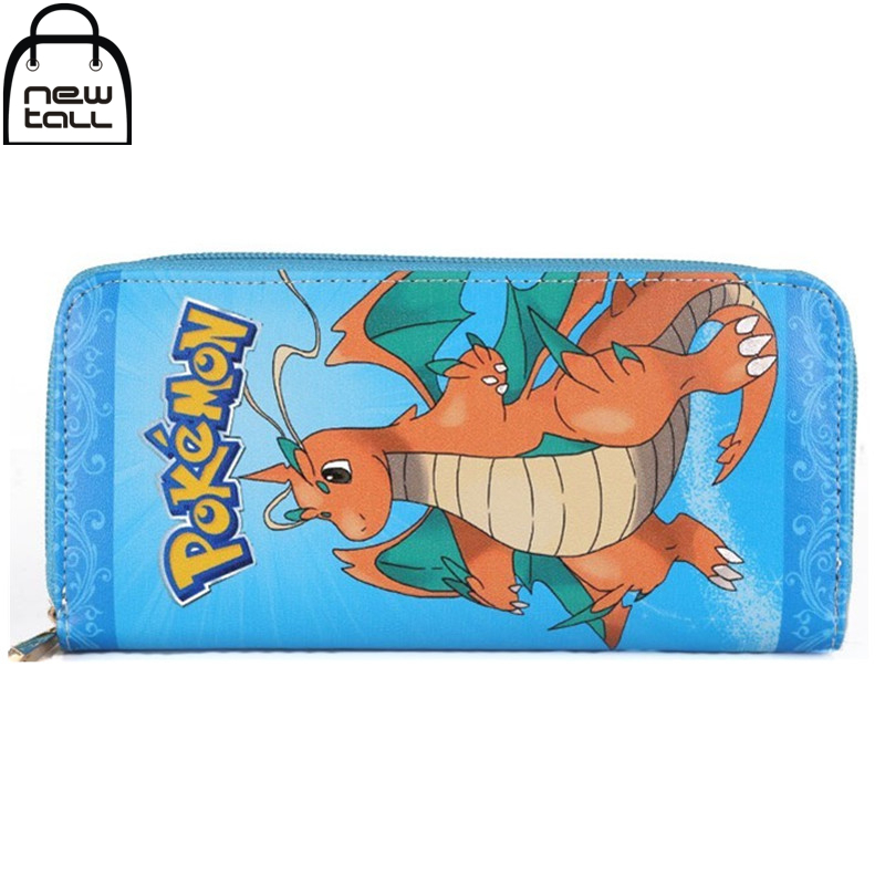 [NEWTALL] Anime Pokemon Dragonite Cosplay Long Zipper Card Holder Purse Wallet Coin Bag 16081710