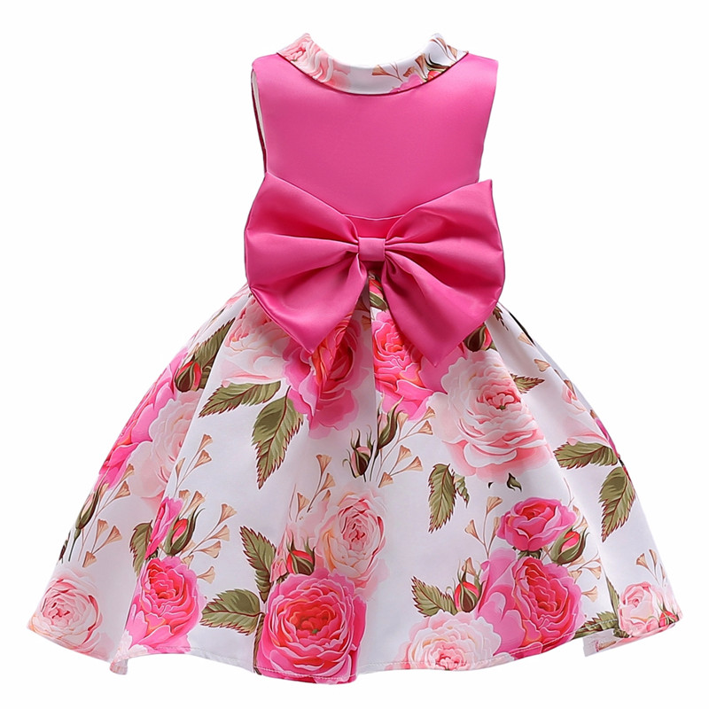Baby Girls Clothes Elegent Bowknot Princess Dress of Girl Birthday Wedding Party Dresses Kids Tutu dress Costume dresses for girls wedding dress black dresses birthday kids baby girl clothes princess dress new year party clothing gh333