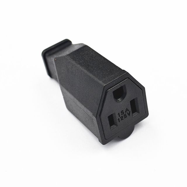 USA 3pin female connector.AC 15A 125V US 3 Pin Plug Connector For Electrical Product Plastic Handle.50 pcs-in Connectors from Lights & Lighting on ...