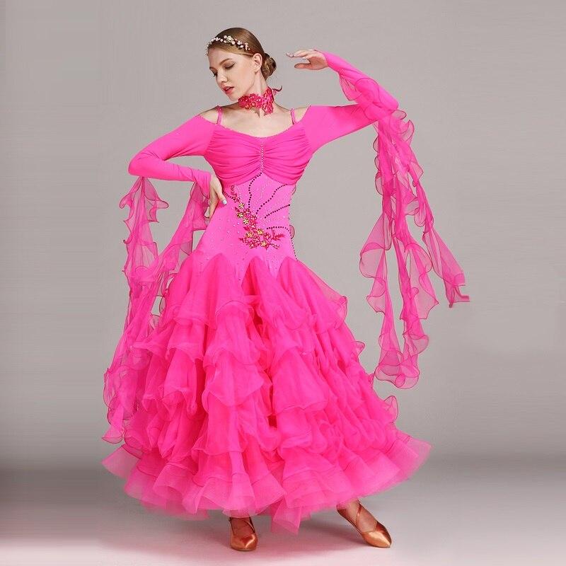6 colores Ballroom Dance competition vestidos baile danza salón de ...