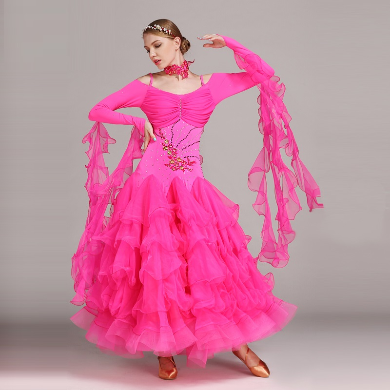 Picture of 6 Colors Ballroom Dance Competition Dresses Dance Ballroom Waltz Dresses Standard Dance Dress Modern Dance Dress Foxtrot Tango