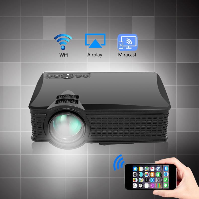Prix pour 2017 Nouveau SD60 Multi-écran Mini Portable Projecteur 1500 Lumens HD LED Home Cinema Soutien Miracast Airplay Wifi Proyector Beamer