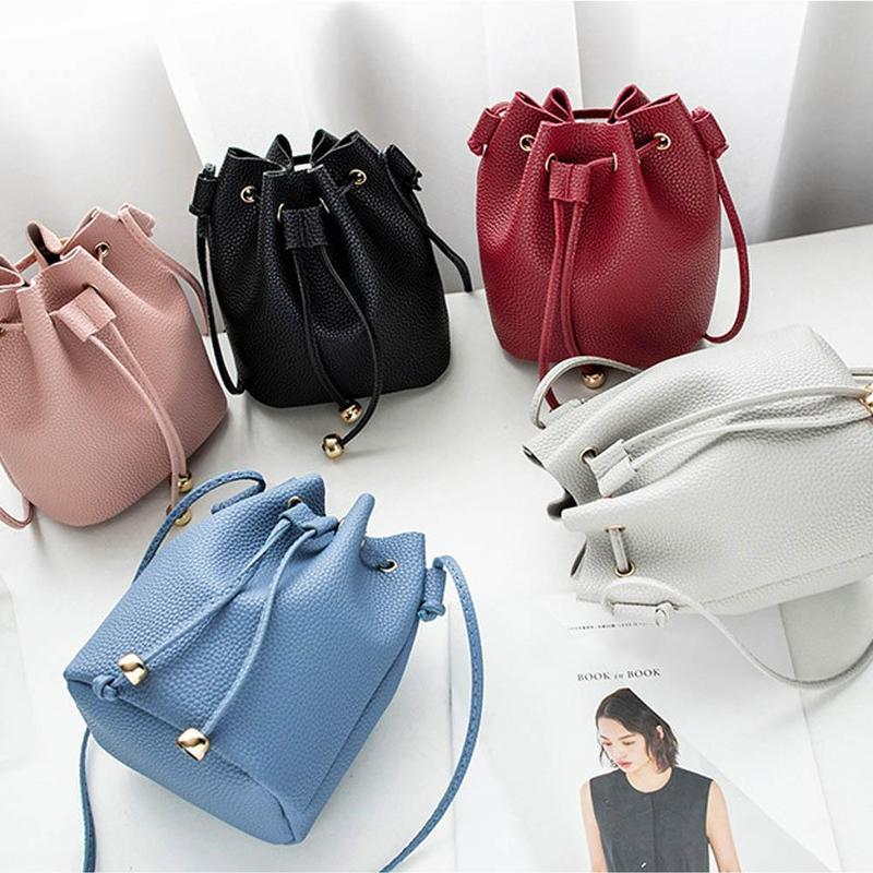 1pc Solid Color Elegant Women Fashion PU Leather Handbag Shoulder Lady Cross Body Bag Tote Messenger Satchel Purse