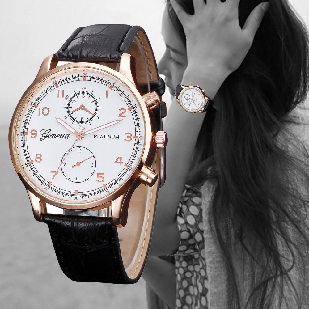Otoky Watches Women Fashion Woman Mens Retro Design Leather Band Analog Alloy Quartz Wristwatch Dropshipping Dec26 Careful Calculation And Strict Budgeting Watches