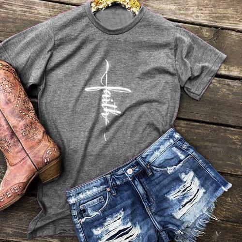 Christian glauben kreuz frauen mode lustige slogan tees grunge tumblr Jesus camisetas grafik tops sommer baumwolle Belief kunst t-shirt