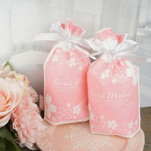 23.5*14.5cm 50pcs pink flower design Gift Wrap Storage bag party Decoration Plastic Packaging keep use