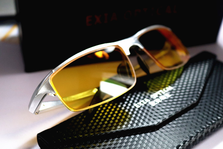 Yellow Lenses Polarized Sun Glasses Driver Eyewear Myopia EXIA OPTICAL KD-320 Series