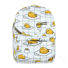 New arrivel 2016 New Kawaii Cartoon printing kids children Gudetama Cute Fried Eggs Funny White Backpack School Shoulder Bag