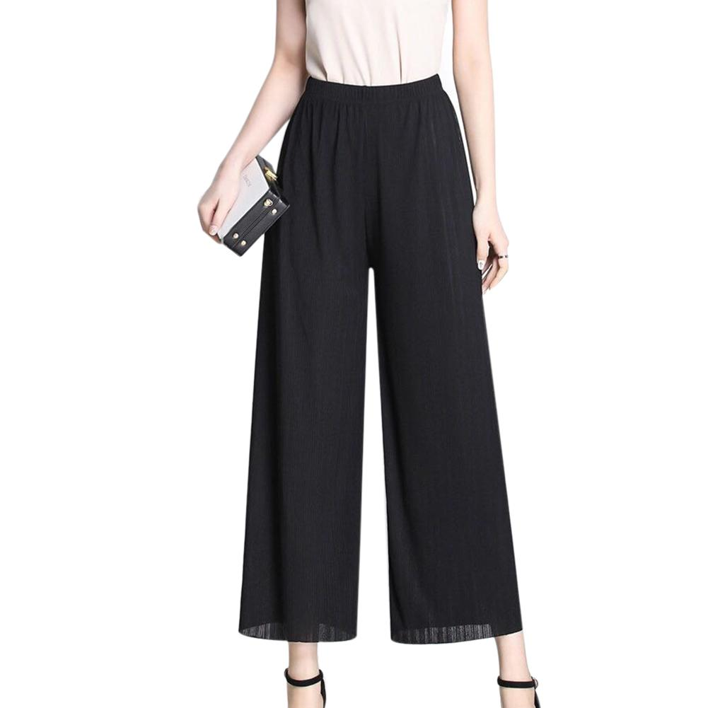 Fashion Women Loose High Waist   Pants   Women Summer Causal Stripped   Wide  -legged   Pants   2018 New Ladies   Wide     Leg     Pants   In 90-160 Kg