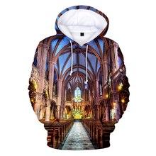hot listing trend casual 3D hooded sweatshirt Notre Dame de Paris men and women shirt printed mens xxs-4xl