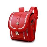 Kid Orthopedic Bookbags Children School Bag for Boy and Girl Backpack Waterproof PU Japan Randoseru Bag Pretty Student Backpacks