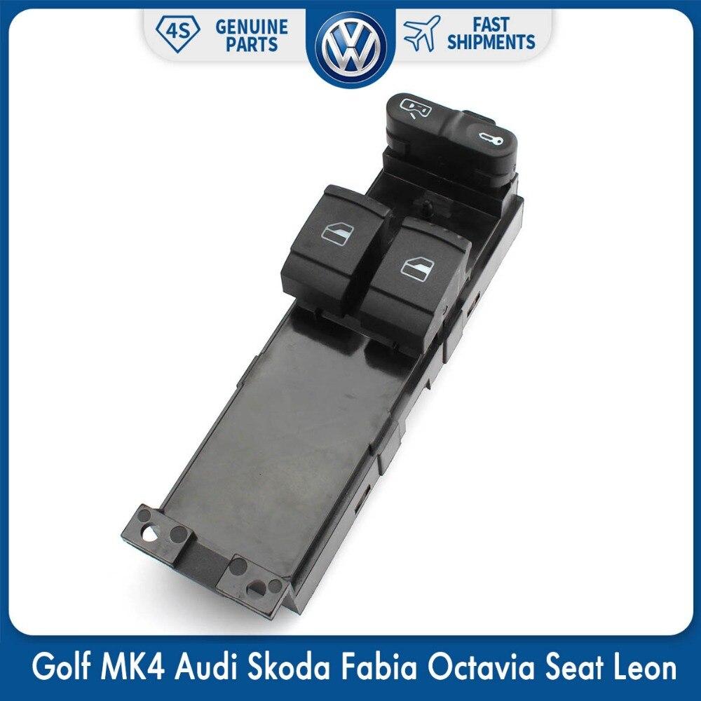 Lado del conductor maestro ventana interruptor para Volkswagen VW Golf MK4 Audi Skoda Fabia Octavia Seat Leon 1J3 959 857
