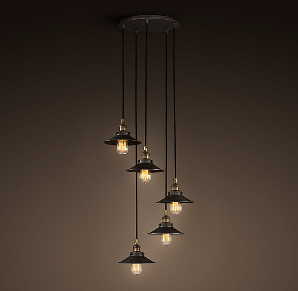 Pendant lamp of American vintage bar lamps counter lighting stair light with round base 3piece/set 5piece lamps/set