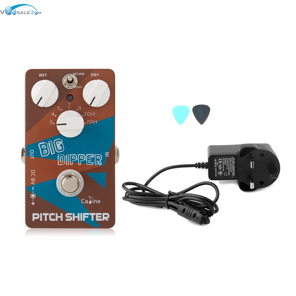 Caline CP-36 Pitch Shifter Big Dipper Guitar Effects Pedals+AC100V-240V to DC9V/1A Adapter Use Have AU UK US EU Plug 100pcs us eu uk au plug ac line 1 5m dc line 1 2m ac100 240v to dc 24v 1a 24w power adapter 24v1a ac adapter