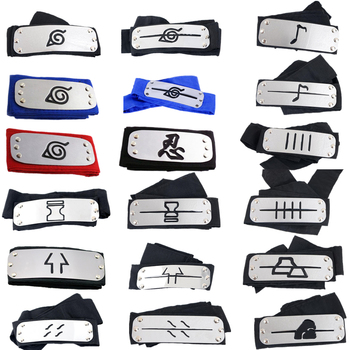 Naruto headband Toy leaf village cosplay Anime Prop Naruto Cos Kakashi Itachi akatsuki madara headband leaf village naruto headband