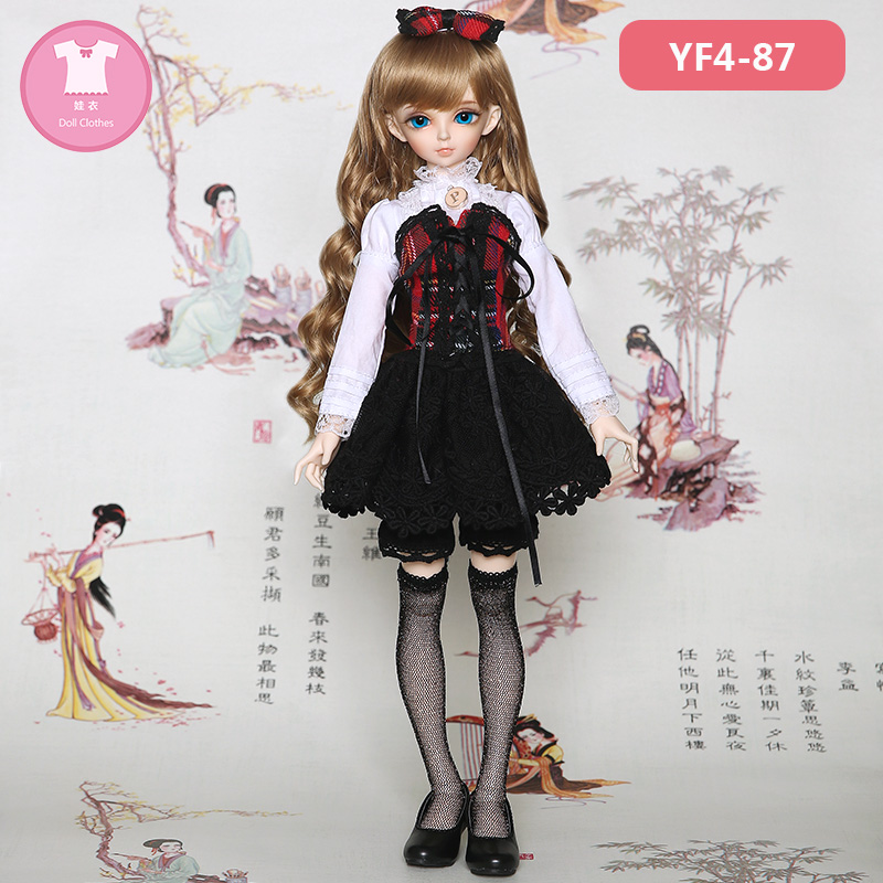 BJD SD Doll Clothes 1/4 Uniforms Institute Style Dress For Fairyland Minifee Body YF4-87 Doll Accessories