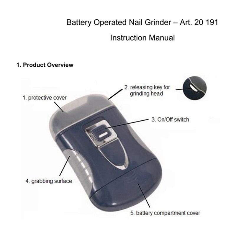 Automatic Electric Nail Clipper Trimmer Nail Cutter File Manicure ...