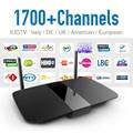 Q1504 IPTV Android Tv Set Top Box Con Iudtv Cuenta Mensual completo Europeo Italia REINO UNIDO Alemania Turco Árabe IPTV Caja Androide de la Tv