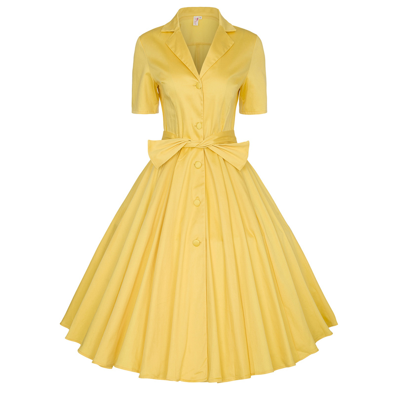 Yellow Pinup Dresses