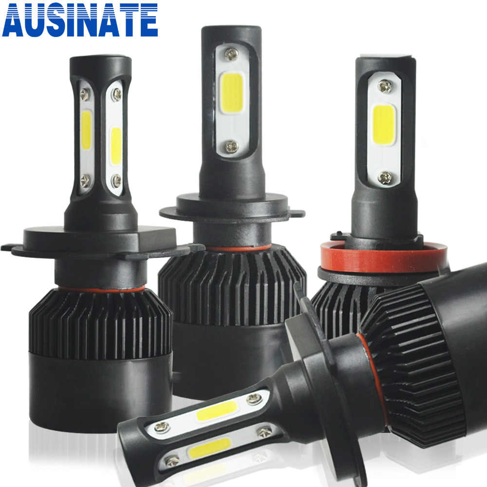 LED H1 H7 H4 H11 H3 H8 HB4 H27 H9 HB3 9005 9006 880 H13 Auto Car Headlight Bulb 6500k 8000lm Turbo Led Automotivo Lamp Car Light