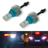 2Pcs Calais Super Bright T15 T16 921 912 LED Bulbs for Car Backup Reverse Light Back Up Tail Lamp CSP Chip 7000K White 12V 24V