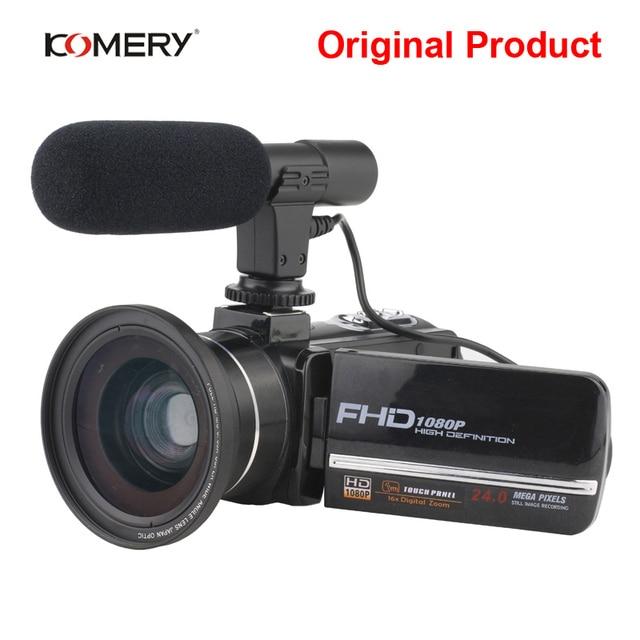 Komery Genuine Original DV-02 Video Camera 3.0 inch Touch Screen 2400w Pixel 8X Digital Zoom Support WiFi Three-year warranty