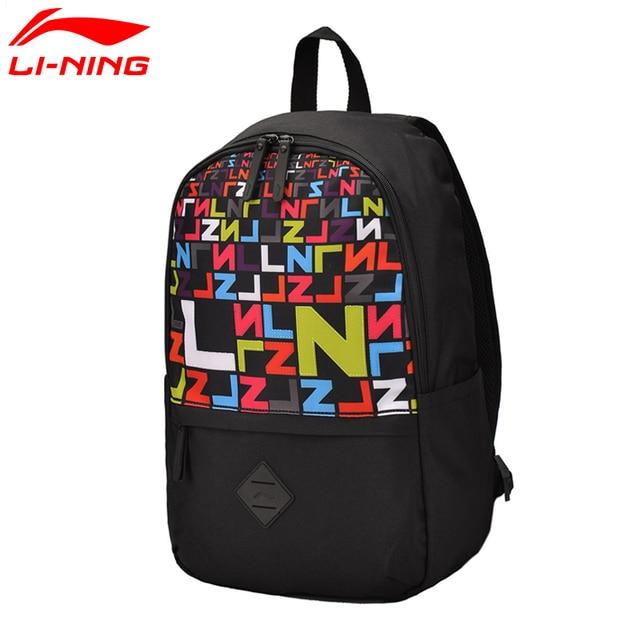 Li-Ning Unisex Urban Sport Backpack Training Polyester Bags Streetstyle LiNing Sports Backpack ABSM042 BBF230