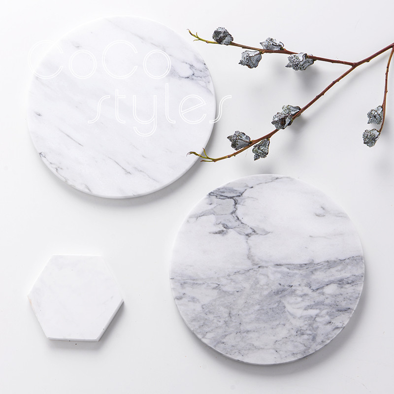 Cocostyles Beautiful Nordic Style Marble Tray For Nordic Styly Home Decoration