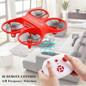 Image 3 - Mini RC QuadcopterอินฟราเรดควบคุมDrone 2.4GHzเครื่องบินLED Lightของขวัญวันเกิดสำหรับของเล่นเด็กMini Drones