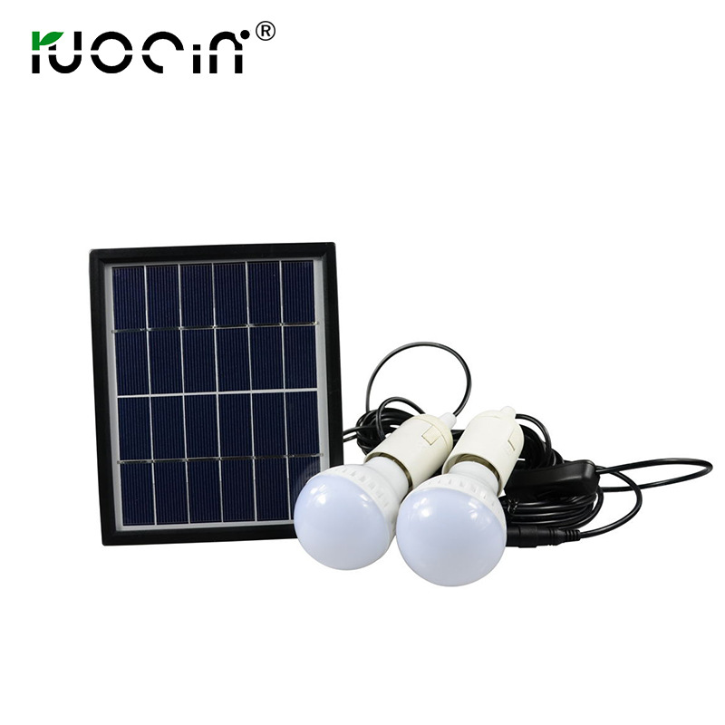 где купить Outdoor Solar Light for Emergency Lighting with 2 3w bulbs 6V 3W Solar Panel Light System по лучшей цене