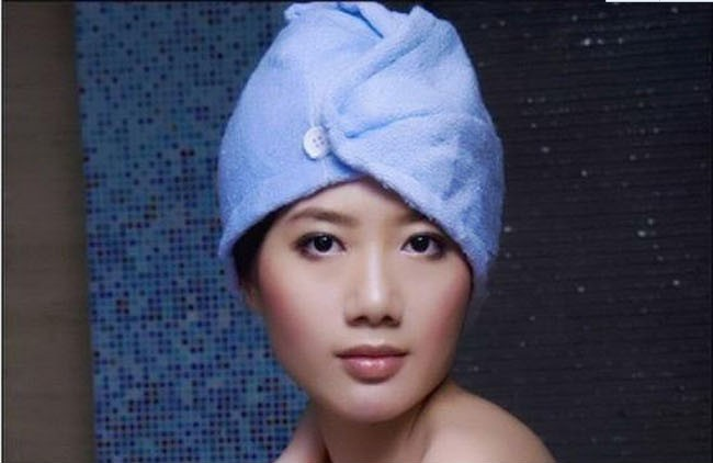 New 2016 Towel --1pc Microfiber Towel Womens Girls Magic Drying Wrap Towels Hat Cap Hair Quick Dryer Bath Salon Towel image