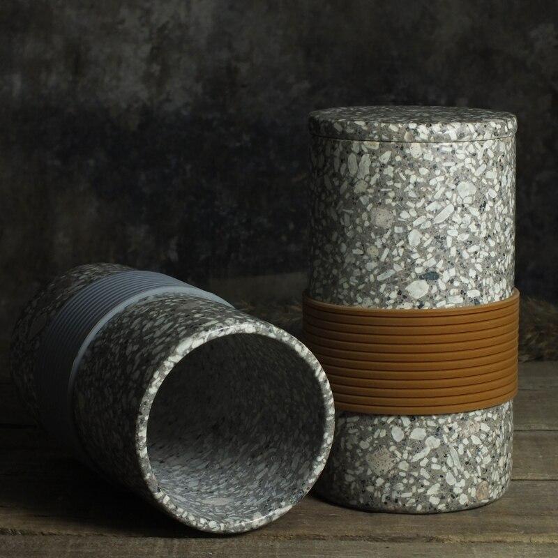 Новый Здоровый Maifan камень Кубок с крышкой и ложкой 410 мл долголетия Камень Спецодежда медицинская Волшебная чашка H120mm x D80mm