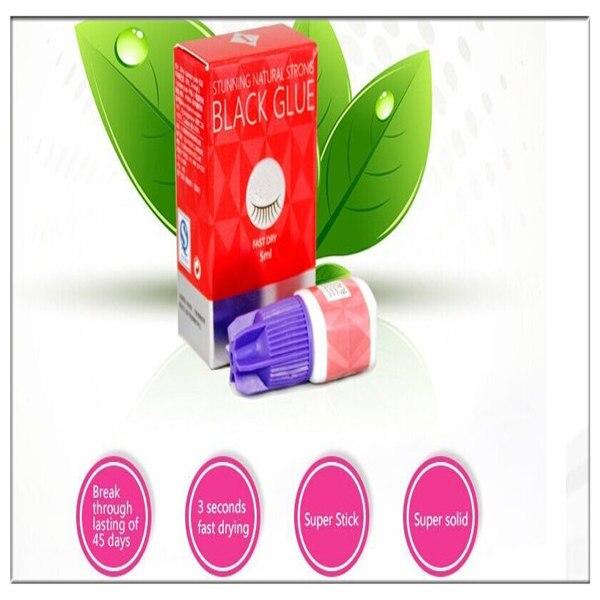 2 pcs 2 s cola para cilios preta cilios cola adesiva 5 ml por frete gratis