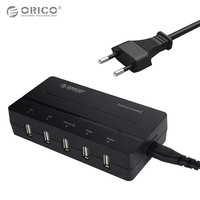 ORICO 5 Ports USB Chargeur Phone Charger 30W USB Charger With Power Cord Desktop USB Wall