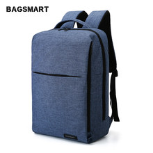 BAGSMART New Laptop Backpack Multifunction Rucksack 15.6 Inch Laptop Backpack for Women Men Backpack School Bag for Male Mochila(China)