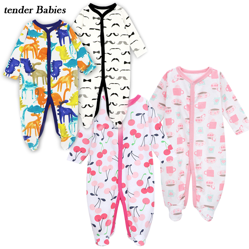 3Pcs/lot Baby Clothes Bebe Boys Girls Rompers next baby suit Jumpsuits Cotton Infant Pajamas Babies Clothing Newborn Baby 2018 newborn baby girls rompers 100% cotton long sleeve angel wings leisure body suit clothing toddler jumpsuit infant boys clothes
