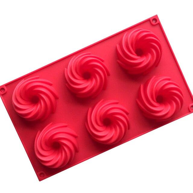 6 utensilios para hornear de silicona para tartas de Chocolate y galletas de donas