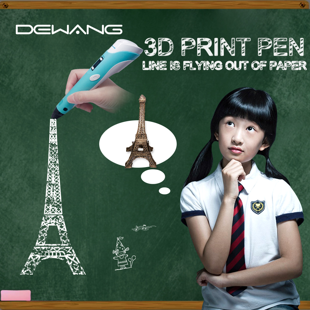 DEWANG 3D Printing Pen with 100 Meters 20 color ABS Filament For Kids Birthday Gifts Education Toy 3D Pens in 3D Pens from Computer Office