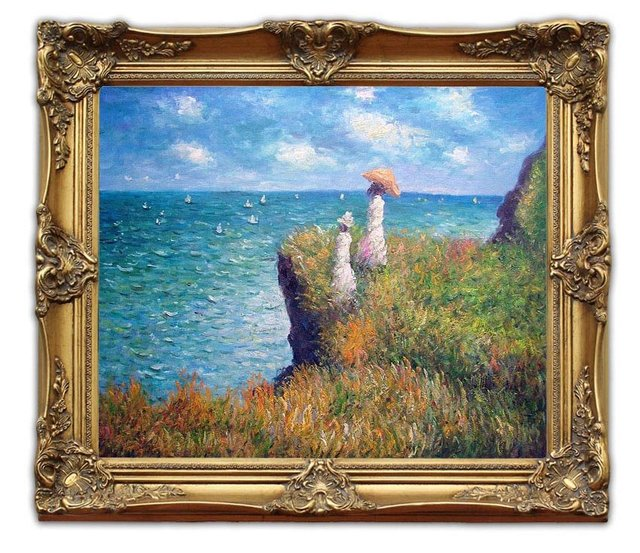 6419 Free Shipping Wooden Oil Painting Frames Cliff Walk At ...