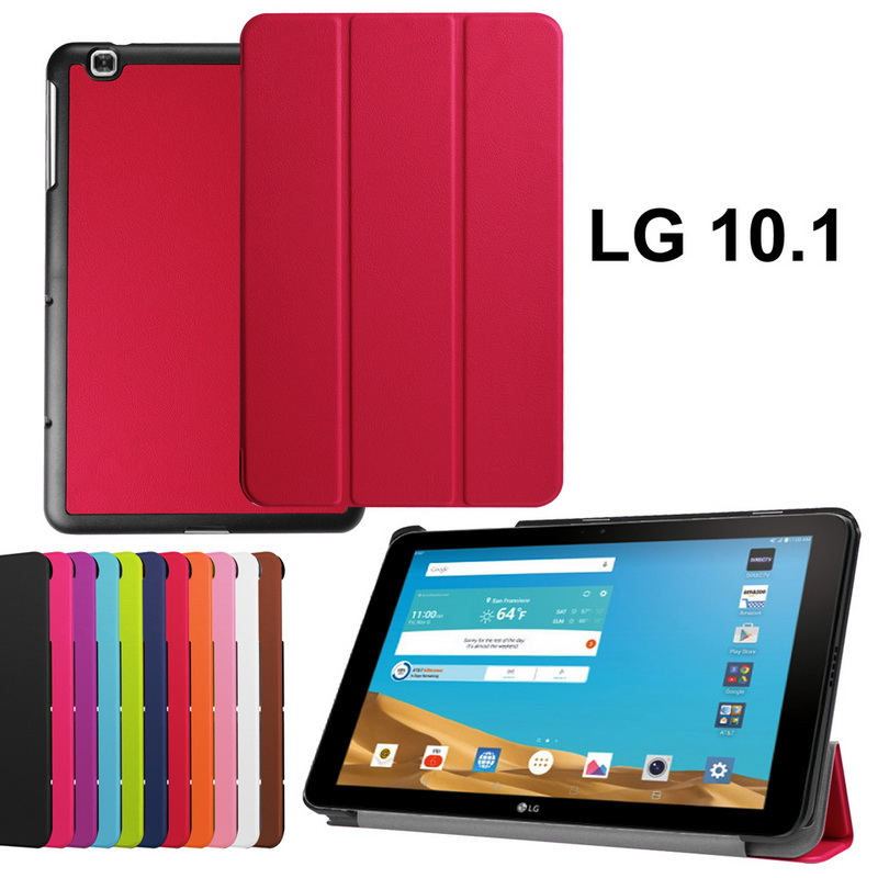Magnetic Flip PU Leather Smart Cover for LG G Pad 2 10.1 V940 tablet Stand Case for Lg g pad 2 gpad II 10.1 V940 Case+Pen/Stylus