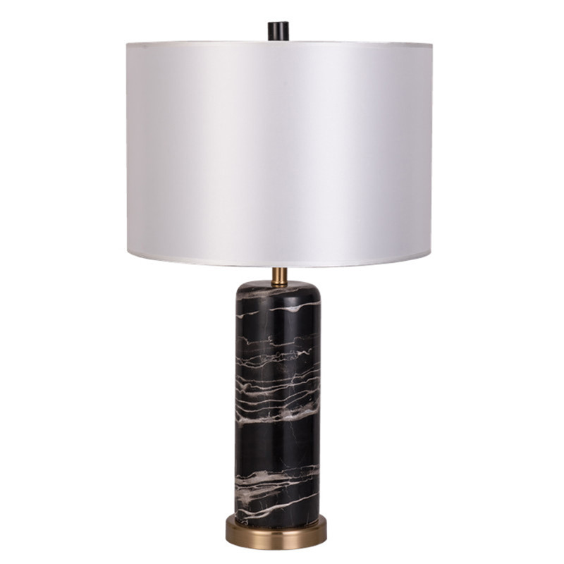 Nodic marble table lamps black desk light for bedroom - Black table lamps for living room ...