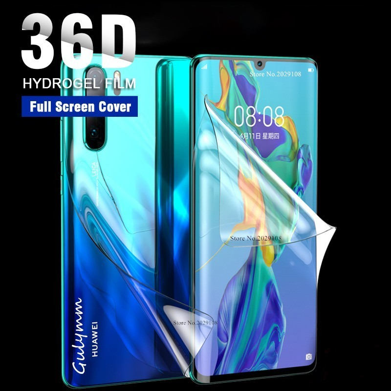 36D Screen Hydrogel Film On For Huawei Mate 20 10 P20 P30 Lite Pro 30Pro Protective Protector Film For Honor 9 10 8X Lite Cover