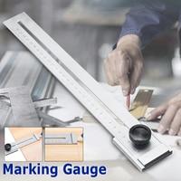 0 300mm Screw Cutting Marking Gauge Mark Scraper Tool For Woodworking Measuring Carbon Steel Graduation 0.1mm Gauging Tools
