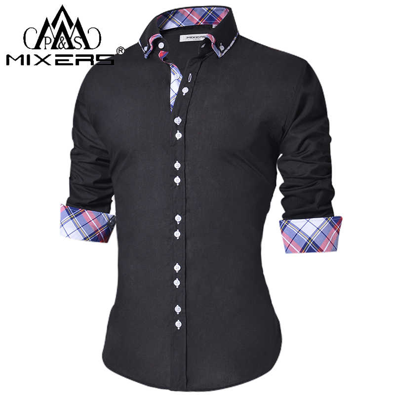 2018 mannen Casual Shirt Slim Fit mannen Casual Button Down Lange Mouwen Formele Dress Shirts Mannen Mannelijke kleding Camisa
