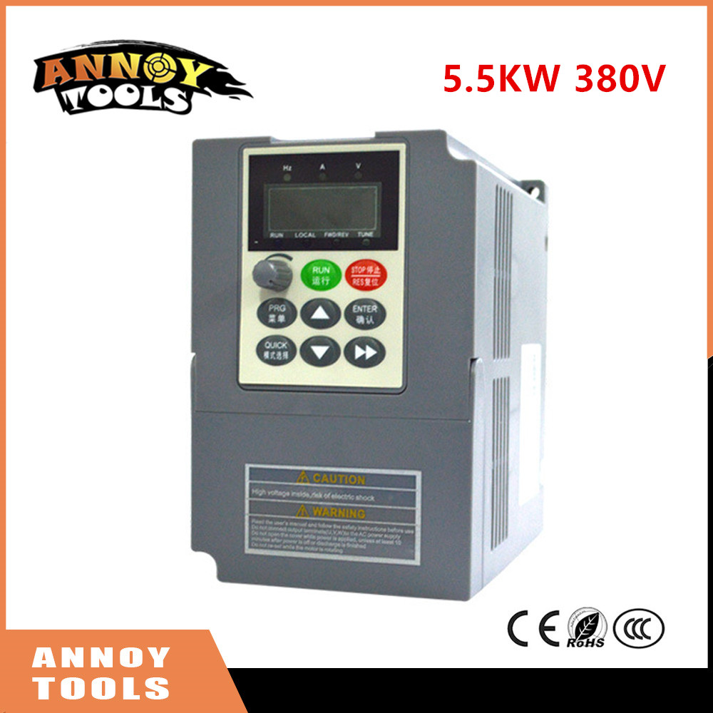 High Quality 380V 5.5kw 13A Frequency Drive Inverter  CNC Driver CNC Spindle motor Speed control,Vector converter new er11 48v 400w brushless spindle motor drive kits high speed with dc motor drive spindle controller cnc diy milling machine